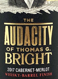The Audacity of Thomas G Bright Cabernet Merlot Whisket Barrel Finish