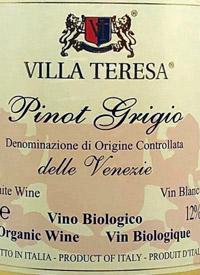 Villa Teresa Pinot Grigio (Organic)text