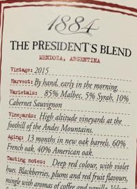 1884 The President's Blend