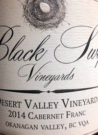 Black Swift Vineyards Desert Valley Vineyards Cabernet Franctext