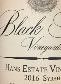 Black Swift Vineyards Hans Estate Syrahtext