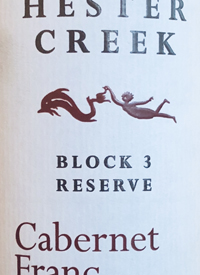 Hester Creek Block 3 Reserve Cabernet Franctext