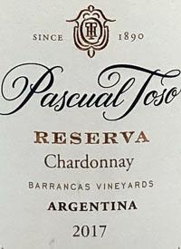 Pascual Toso Reserva Chardonnay Barancas Vineyardstext