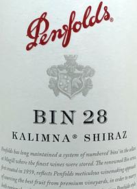 Penfolds Shiraz Kalimna Bin 28text