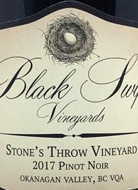 Black Swift Vineyards Stone's Throw Vineyard Pinot Noirtext