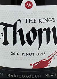 Marisco Vineyards The Kings Thorn Pinot Gristext