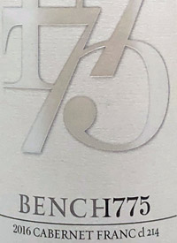 Bench 1775 Cabernet Franc cl 214text