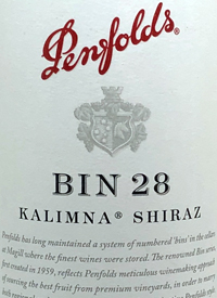 Penfolds Shiraz Kalimna Bin 28text