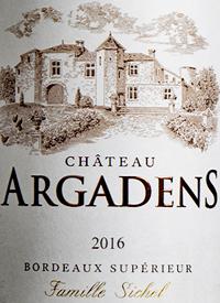 Château Argadens Bordeaux Supérieurtext