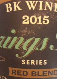 BK Wines Springs Hill Series Red Blendtext
