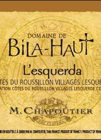 M. Chapoutier Domaine de Bila-Haut L'esquerdatext