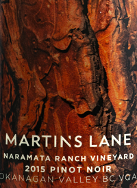 Martin's Lane Naramata Ranch Vineyard Pinot Noirtext