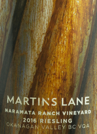 Martin's Lane Naramata Ranch Vineyard Riesling