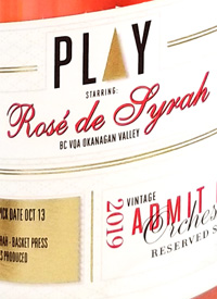 Play Starring Rosé de Syrah