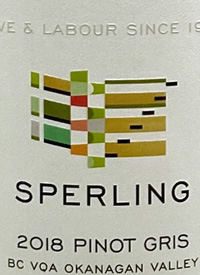 Sperling Vineyards Pinot Gristext