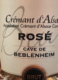 Cave de Beblenheim Brut Rose Crémant d'Alsacetext