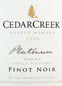 CedarCreek Platinum Block 2 Pinot Noir