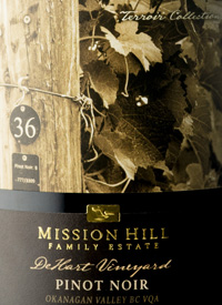 Mission Hill Terroir Collection Pinot Noir Dehart Vineyard