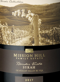 Mission Hill Terroir Collection Border Vista Syrah