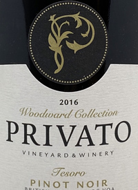 Privato Woodward Collection Tesoro Pinot Noirtext