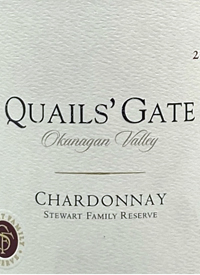 Quails' Gate Stewart Chardonnay Family Reservetext