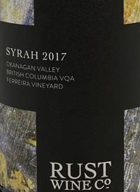 Rust Wine Co. Ferreira Vineyard Syrahtext