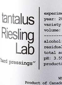 Tantalus Riesling Lab Hard Pressings Experiment #09text