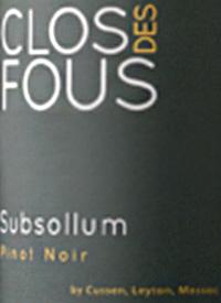 Clos des Fous Subsollum