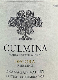 Culmina Family Estate Decora Riesling