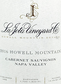 La Jota Vineyard Co. Howell Mountain Cabernet Sauvignon