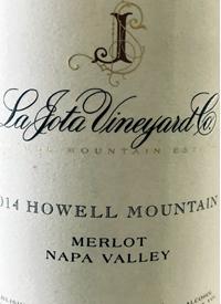 La Jota Vineyard Co. Howell Mountain Merlottext