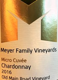 Meyer Family Vineyards Chardonnay Micro Cuvée Old Main Road Vineyard