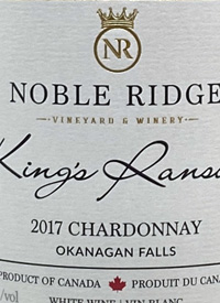 Noble Ridge King's Ransom Chardonnaytext
