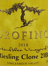 Orofino Hendsbee Vineyard Riesling Clone 21Btext