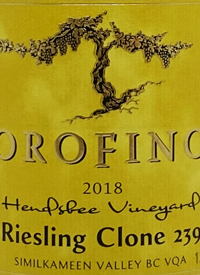 Orofino Hendsbee Vineyard Riesling Clone 239text