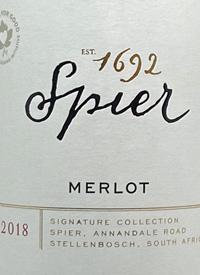 Spier Merlot Signature Collectiontext