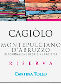 Cantina Tollo Cagiòlo Montepulciano d'Abruzzo Reservatext