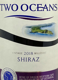 Two Oceans Shiraztext
