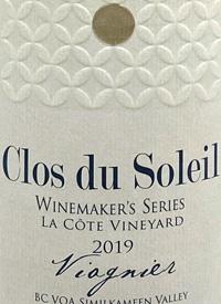 Clos du Soleil Winemaker's Series La Côte Vineyard Viognier