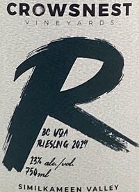Crowsnest Rieslingtext