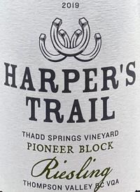 Harper's Trail Riesling Thadd Springs Vineyard Pioneer Blocktext