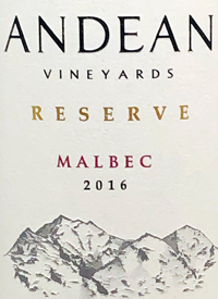 Andean Vineyards Reserve Malbectext