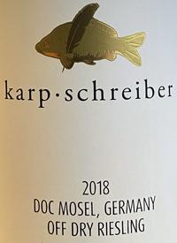 Karp-Schreiber My Karp Off-Dry Rieslingtext