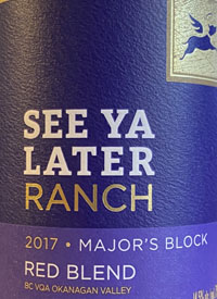 See Ya Later Ranch Major's Block Red Blendtext