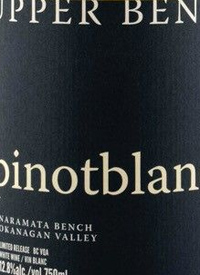 Upper Bench Pinot Blanc Limited Releasetext