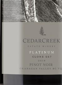 CedarCreek Platinum Clone 667 Pinot Noir