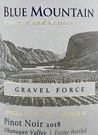Blue Mountain Single Vineyard Block 14 Gravel Force Pinot Noirtext