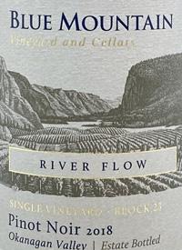 Blue Mountain Single Vineyard  Block 23 River Flow Pinot Noirtext