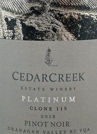 CedarCreek Platinum Clone 115 Pinot Noirtext