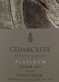 CedarCreek Platinum Clone 667 Pinot Noirtext